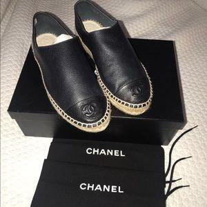 Chanel Navy/Black Sun Espadrilles NIB